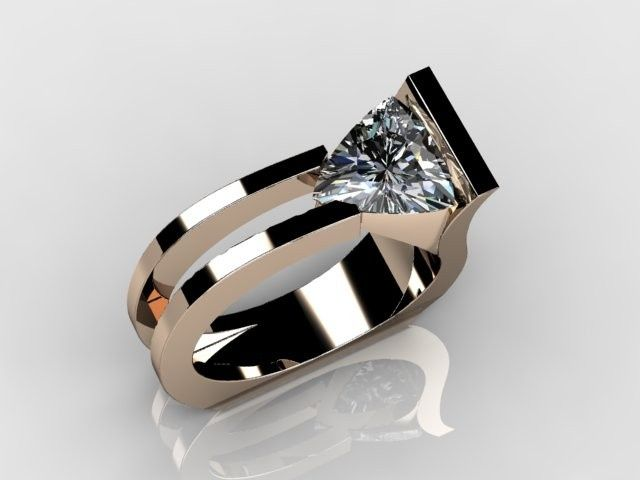 Harry Roa #design /  Perfect with Trillion cut stone!