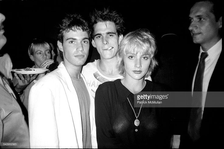 Neil Barry, Matt Dillon and Jenny Wright attend The 'Out of Bounds' Premiere Party at Revolution on July 23, 1986 in New York City.