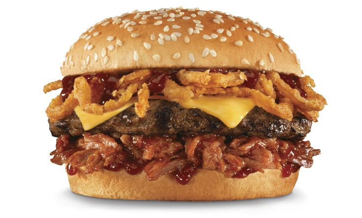 "Hardee's® unleashes the Memphis BBQ Thickburger®, a new ""meat-on-meat"" burger pairing saucy pulled pork with a classic charbroiled beef patty to create a match made in BBQ heaven. It's a #MeatEmbrace"