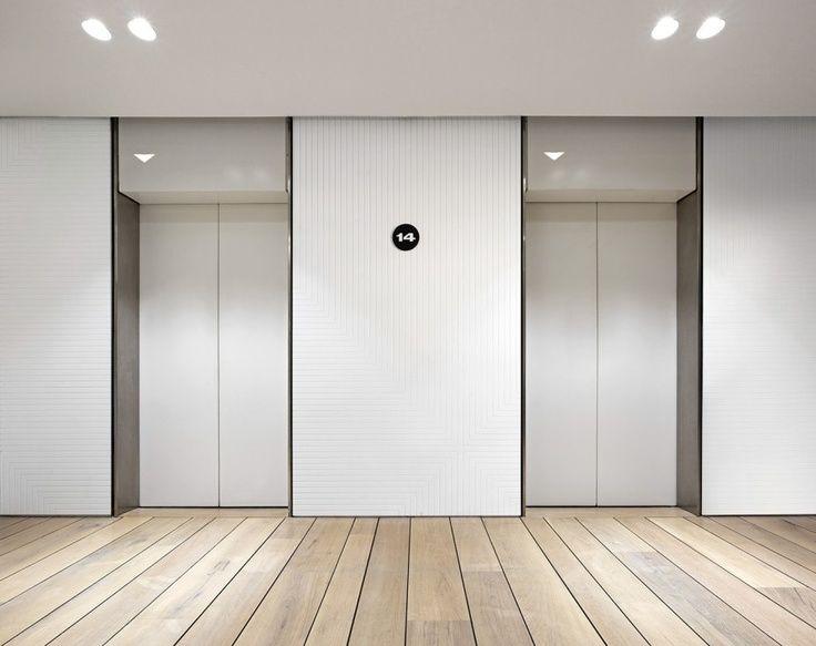 Elevator lobby - Large Format Tile instead on walls