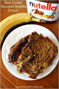 Put a whole new spin on your typical slow cooker banana bread with this recipe for Slow Cooker Banana Nutella Bread. This easy banana bread recipe is decadent, yet simple to prepare.