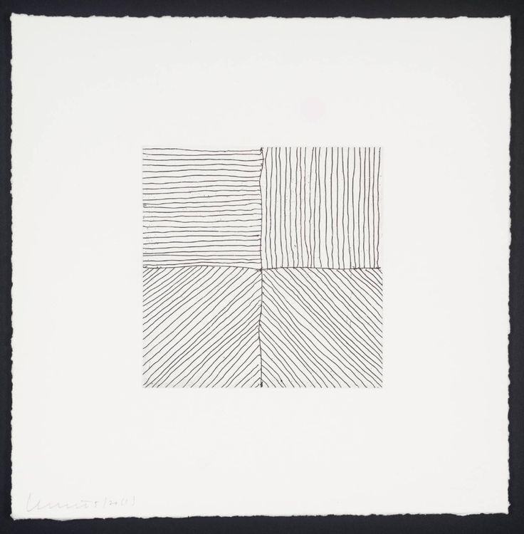 Sol LeWitt. Small Etching/Black & White No.1 1999
