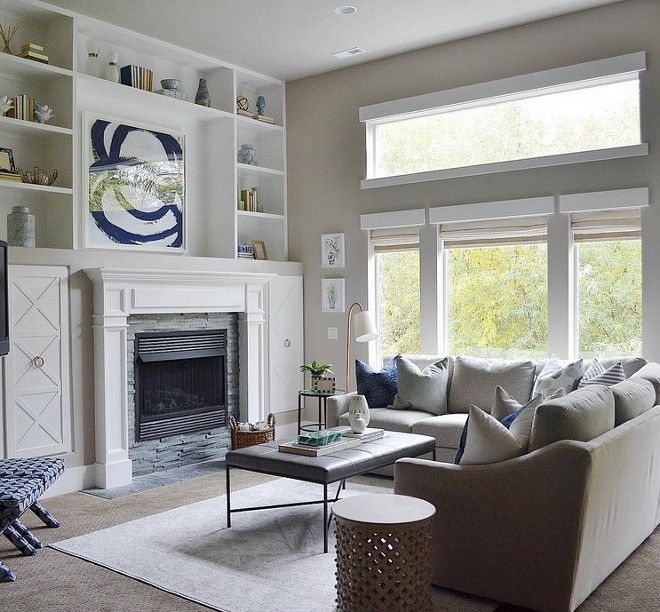 99 Beautiful White And Grey Living Room Interior: A Beautiful Living Room Design With A Warm Gray, White