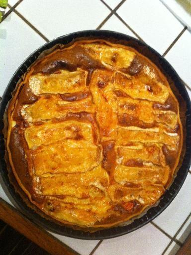 Recette de Tarte au camembert fondant