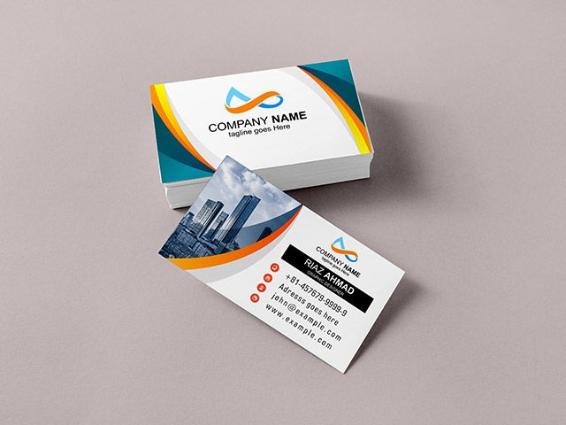 Abstract Corporate Business Card Template Cdr File Download Business Card Template Corporate Business Card Business Cards