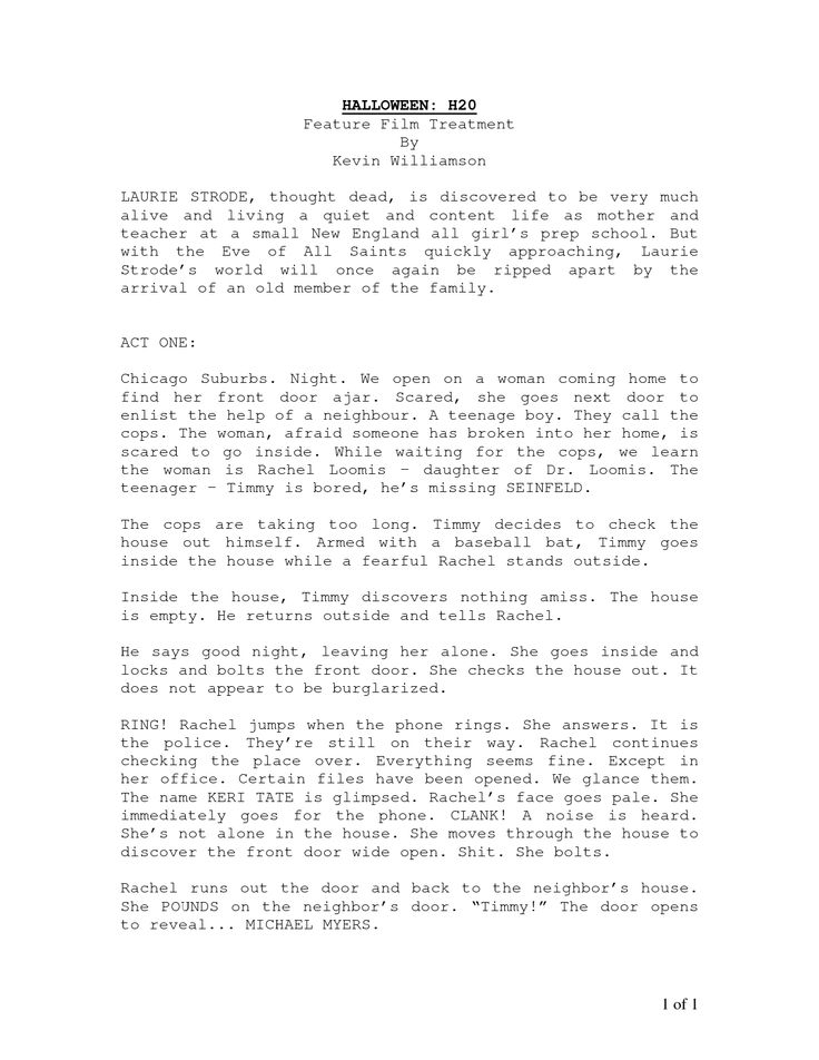 feature film treatment - Google Search Screenwriting Pinterest - screenplay template