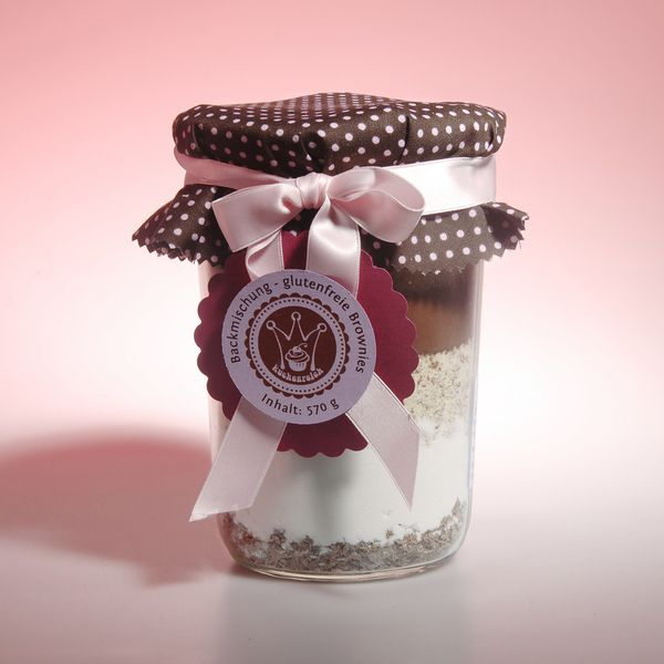 glutenfreie Brownies-Backmischung im Glas von Kuchenreich auf DaWanda.com