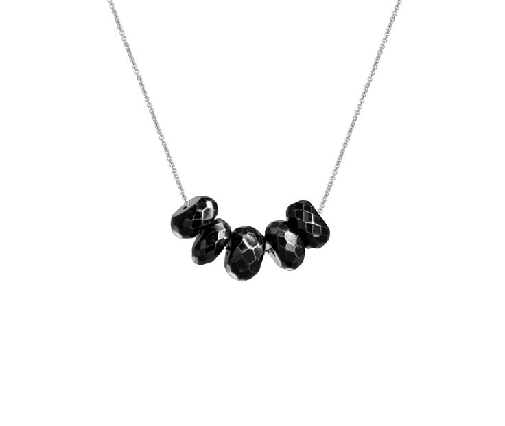 Olly and Rose Black Spinel Necklace