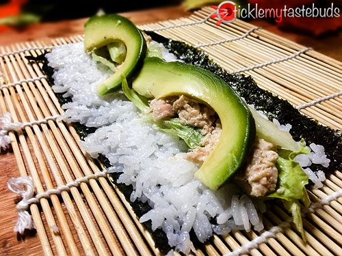 Sushi Recipe For Beginners   Homemade Sticky Rice, Creamy Crab and Salmon   Tickle My Tastebuds