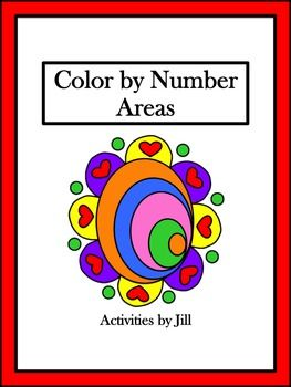 This bright color by number activity will add some fun to your lesson!  Students will calculate areas of triangles, squares, rectangles, parallelograms, and trapezoids.  Extra lengths appear in the diagrams so that students must think about which numbers should be used in the area formulas.