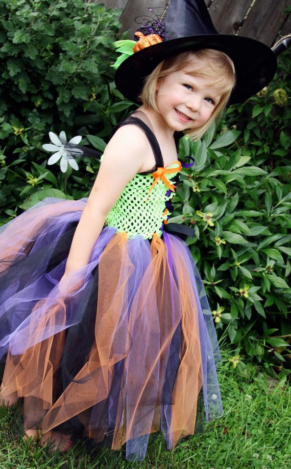 Witch Tutu Costume- Hat included. $75.00, via Etsy.