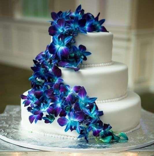 Tartas de boda con orquídeas fotos ideas originales (30/40)