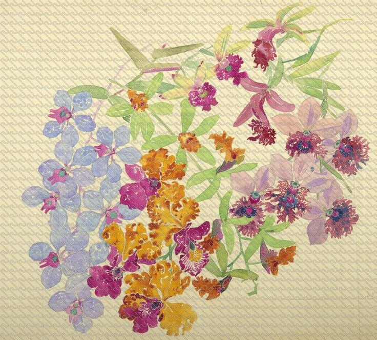 529 - Painting watercolor flowers and orchids - RU Digital