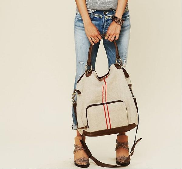 kempton & Co. Anglo Vintage Textiles Carryall Handbag