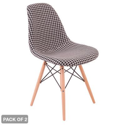 Eames Replica Furniture - 2 x Upholstered Eames Replica Chairs   Buy Replica Chairs Online - oo.com.au