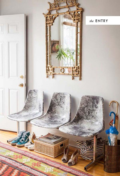 DIY marble decoupage chairs