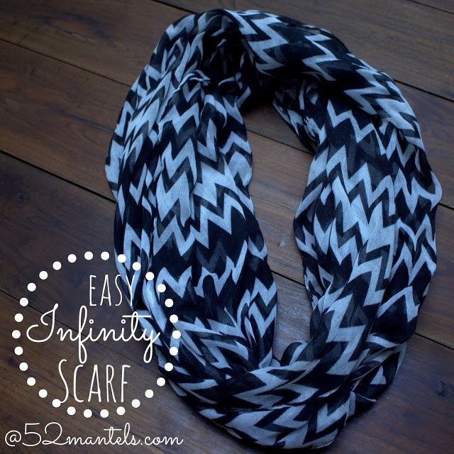How To Make An Easy Infinity Scarf At 52 Mantels Diy