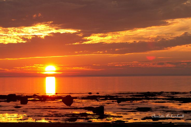 Image result for coucher de soleil rimouski