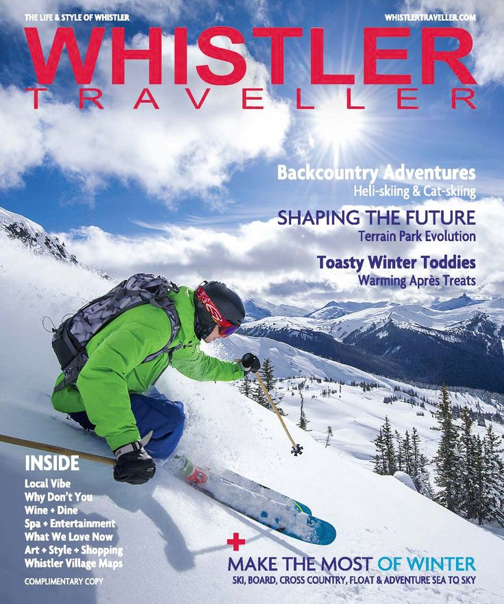 The new issue is here!  Find it at local hotels, magazine racks and info centre or online here.  Just in time to start planning your winter in Whistler! www.whistlertraveller.com