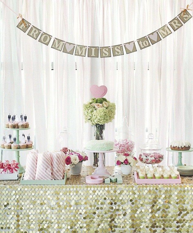 chic rooftop bridal shower