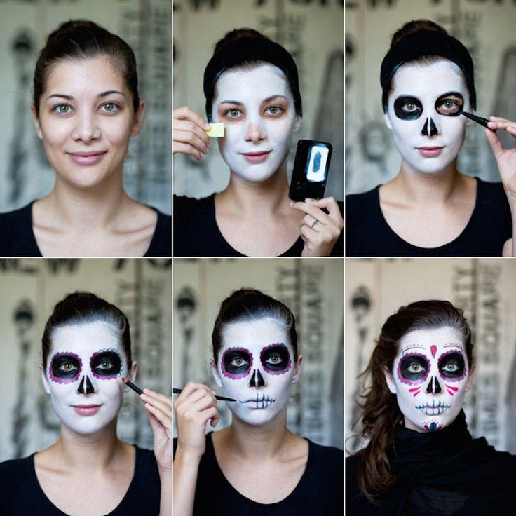 Dia De Los Muertos - The Traditional Mexican Sugar Skull Makeup Look Tutorial - The Sparkling Blueberry