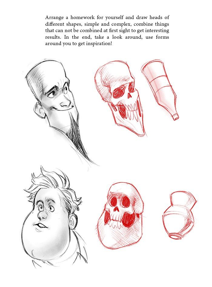 Human Character Design Tutorial : Makusha Учимся рисовать по шагам drawing school human