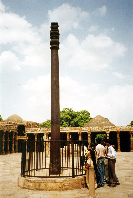 Enigma #9- Iron Pillar of Delhi.  As we know, iron rusts.  This pillar is made of 98% iron and has for 1600 years has defeated corrosion of any kind.