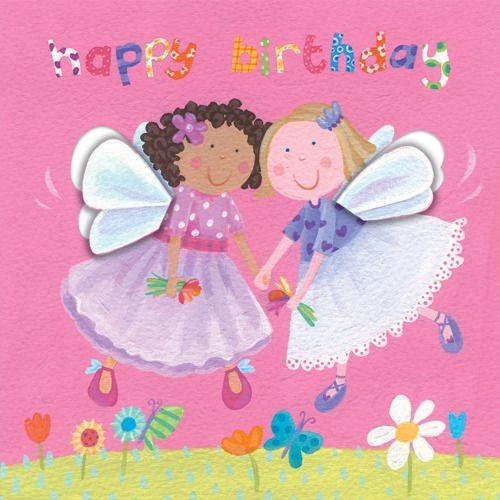 Birthday fairies.  AU$4.20 / NZ$4.60 each  or 10 or more (assorted) cards for AU$3.50 / NZ$4.00