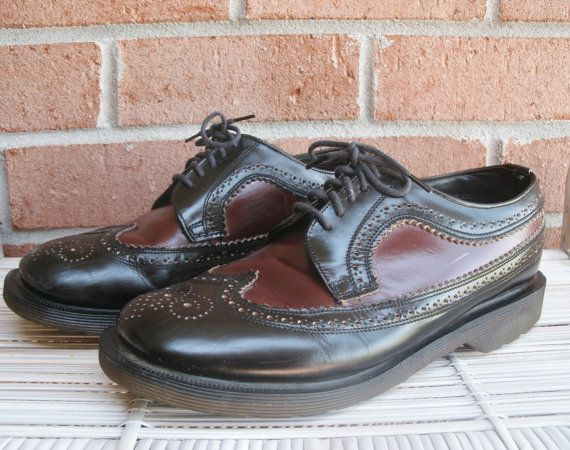 Vtg Dr. Martens Doc Martens Black Leather Oxford Shoes Sz 11 US Made in England
