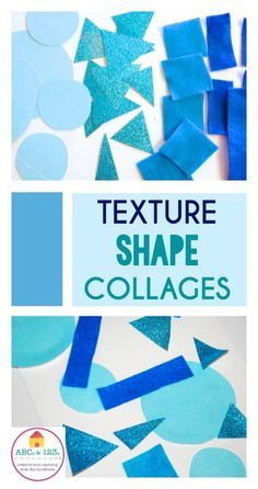 Multi-sensory math: how to explore texture and shape in a simple shape collage math and art project.