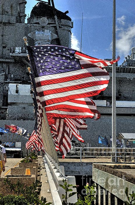 ✈˚ ★ See The World Travel Map ♦ *The USS Missouri battleship at Pearl Harbor, Oahu, Hawaii.