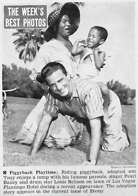 Pearl Bailey, Louis Bellson and Their Son Tony - Jet Magazine, January 3, 1957 by vieilles_annonces, via Flickr