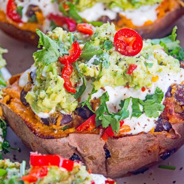 LOADED MEXICAN-STYLE SWEET POTATO SKINS | Deliciously Ella
