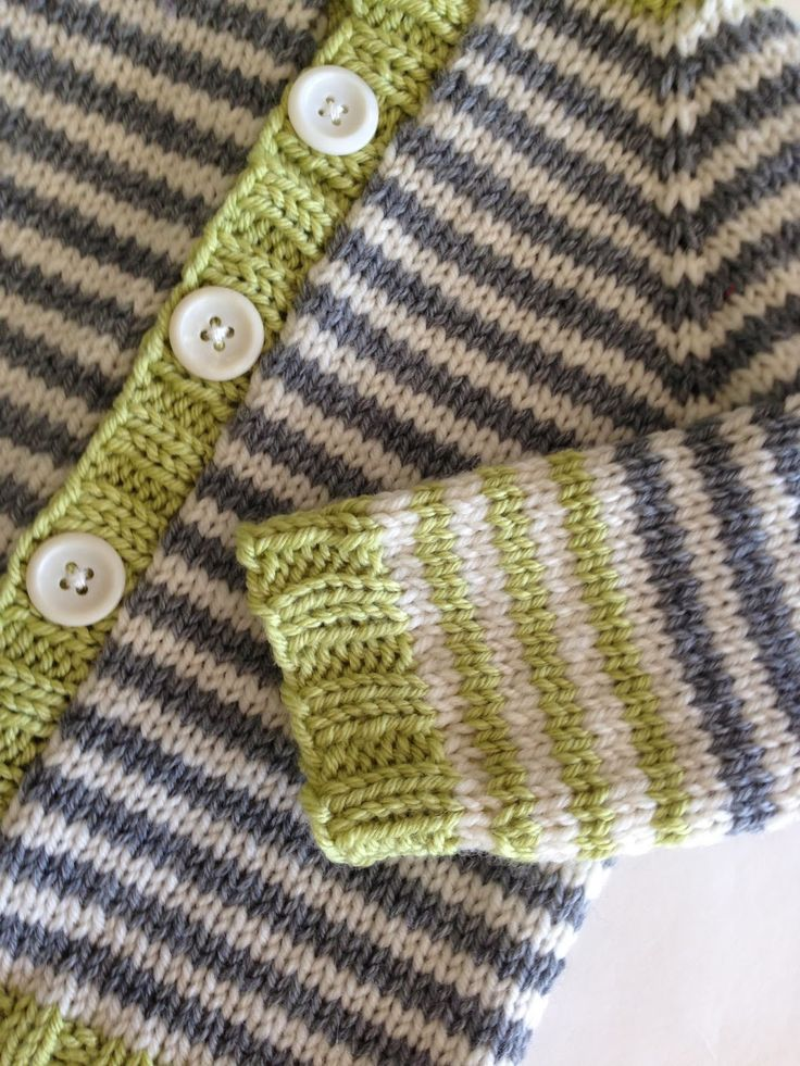 Links to free patterns for baby cardigans using fingering, sport, dk or worsted weight.