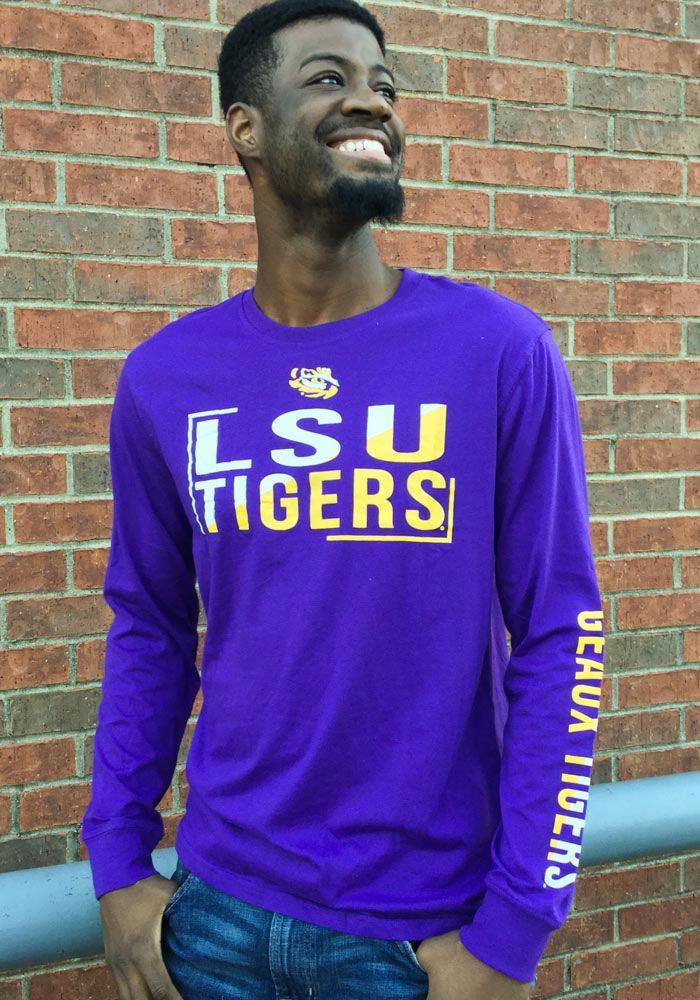 f18dab73e Colosseum LSU Tigers Purple Lutz Long Sleeve T Shirt, Purple, 60 ...