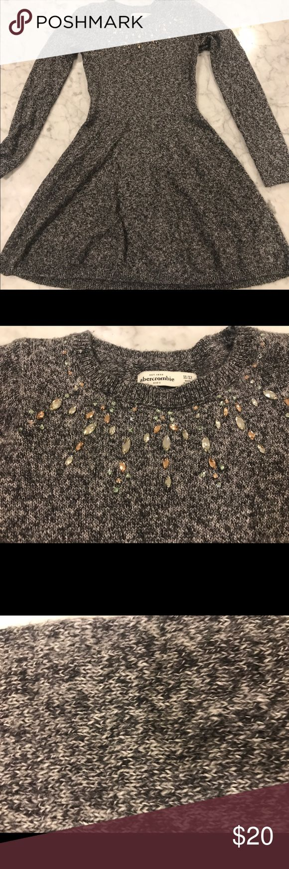 Abercrombie Girls sweater dress In great shape really pretty rhinestones no damage wore twice. Fits more like a 10 but stretches . Make me an offer I do same day Mail out Abercrombie & Fitch Dresses
