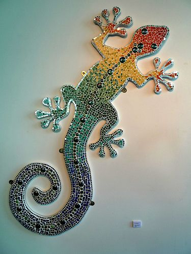 Free Mosaic Patterns | Gecko Mosaic Pattern Pic #23
