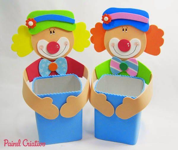 Lembrancinha do palhacinho para o Dia das Crianças