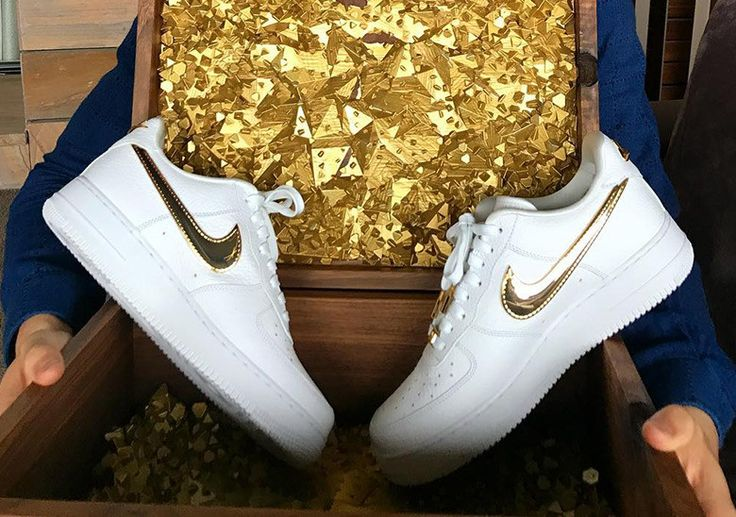 Cristiano Ronaldo Birthday Nike Air Force 1 Low 24k Gold #thatdope #sneakers #luxury #dope #fashion #trending