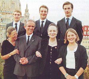 Markgräfin Gisela, Prinz Paul-Clemens, Markgraf Alexander, Prinz Mauricio-Gabriel, Markgräfin Anastasia-Louise, Prinz Georg-Phillip, Prinzessin Maria-Teresita