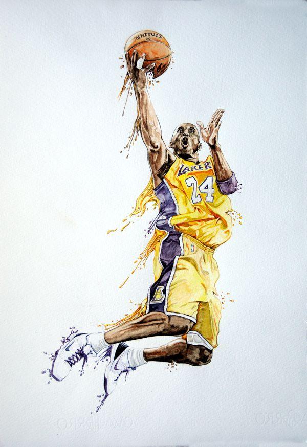 Kobe bryant watercolour on Behance