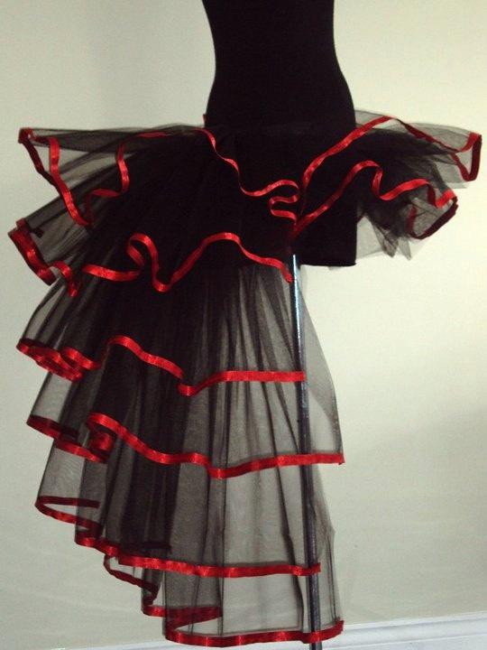 BURLESQUE Moulin Rouge Tutu skirt Black Purple Red size 4 10 U.S 6 12 U.K.Halloween. $58.00, via Etsy.