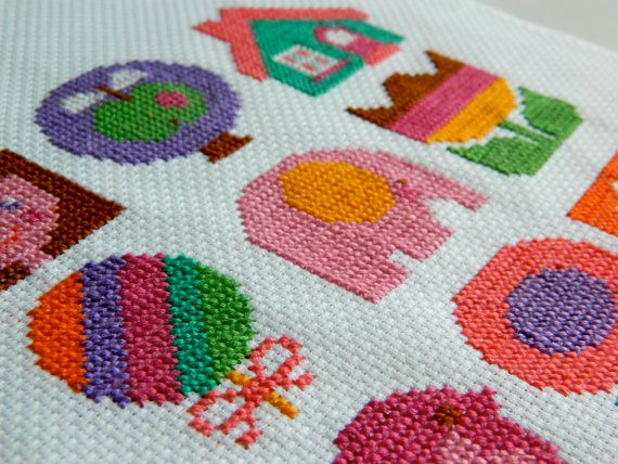 Original Retro Cross Stitch PDF Pattern by alice by aliceapple, £3.50