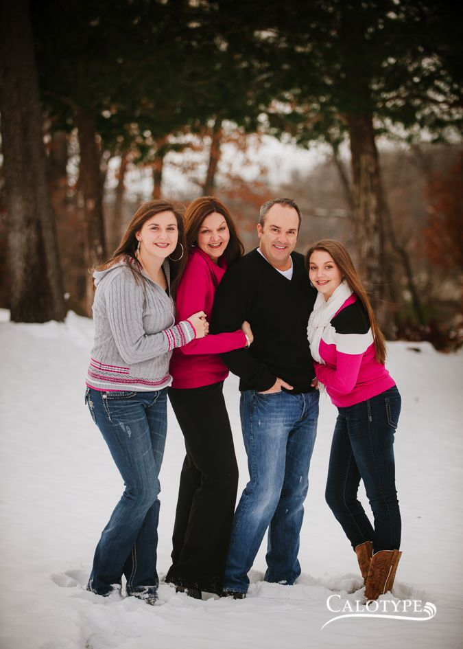 Family Portraits In The Snow