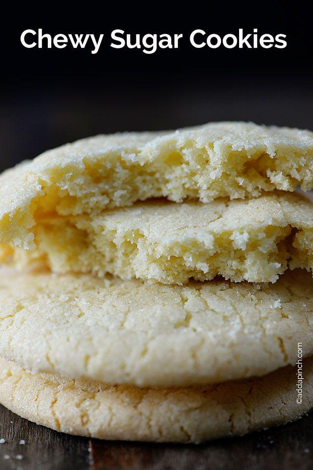Chewy Sugar Cookies Recipe | ©addapinch.com