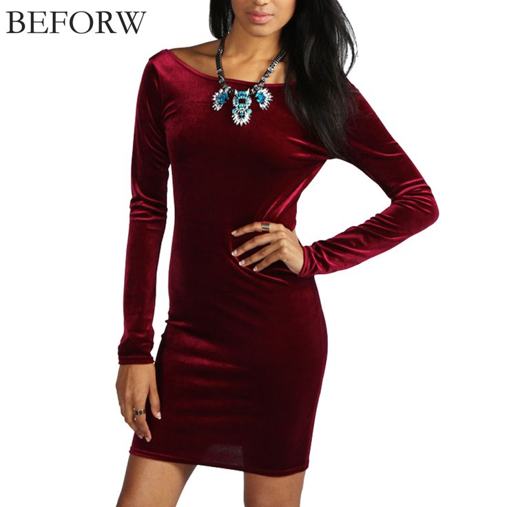 BEFORE Women Autumn Dress Nightclub Sexy Backless Long Sleeve Solid Color Slim Plus Size Dress Fashion Casual Elegance Dresses