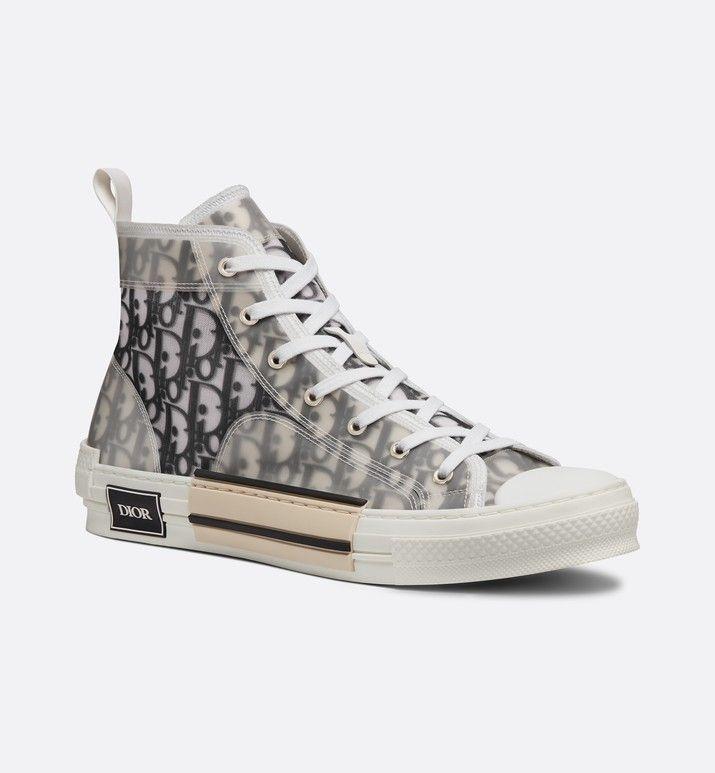 a190118d20b1 sneaker alta b23 in tessuto tecnico dior oblique