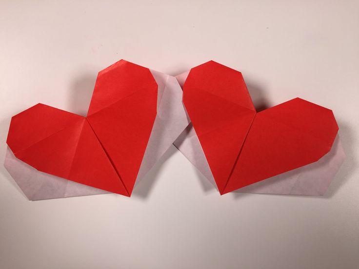 ハート 折り紙 簡単 ハート 折り紙 : 簡単折り紙 ハート封筒 More