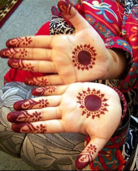 cute and simple finger design Mehndi Design or Henna Tattoo for Kids
