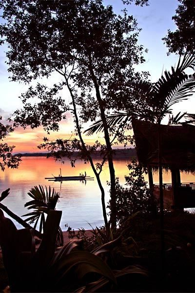 A sunset view from the villas at Ratua, a private island part of Vanuatu.